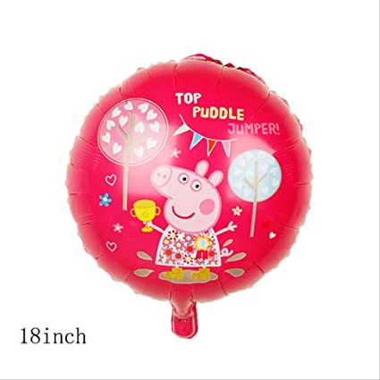 QING Globo Peppa Pig Party Suministros Sala De Cumpleaños ...