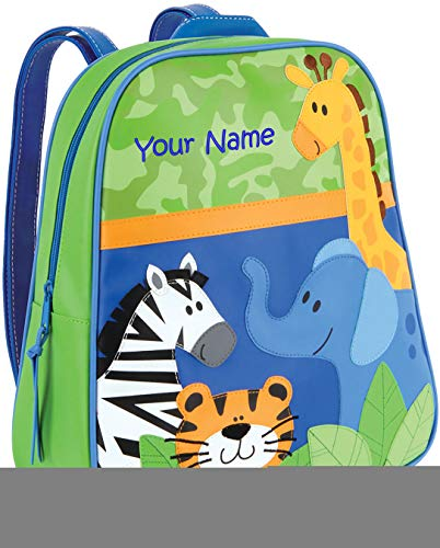 Personalized Stephen Joseph Boy Zoo Go Go Backpack with Embroidered Name