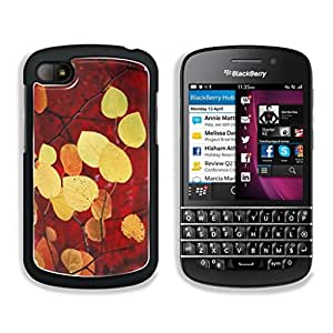 HWRU Fall Colored Leaves on Branch BlackBerry Q10 Snap Cover Premium Aluminum Design Case Customized Made to Order