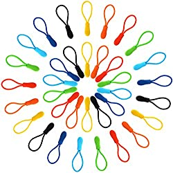 Outus Zipper Pulls Zipper Extension Nylon Zipper Tab Replacement, 35 Pieces, 7 Colors