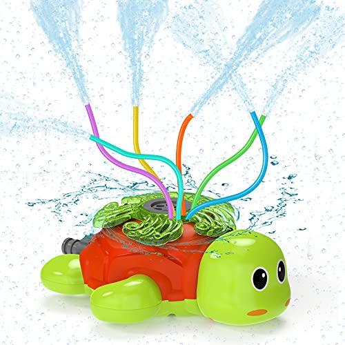 Kiztoys Water Sprinkler For Kids Outdoor Play- Outdoor Toys Water Sprinklers, Turtle Sprinkler For Kids, Fun Yard Kids Toy Sprinkler Outdoor, Sprinkler Toddler Outdoor Toys For Lawn, for Fun Summer