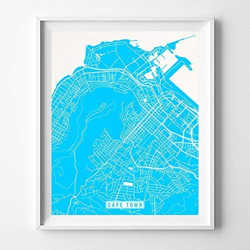 Amazon.com: Cape Town South Africa Map Print Street Poster City Road ...