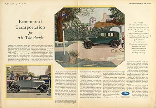 Economical Transportation for All The People - Ford Model A ad 1929 LD from The Jumping Frog