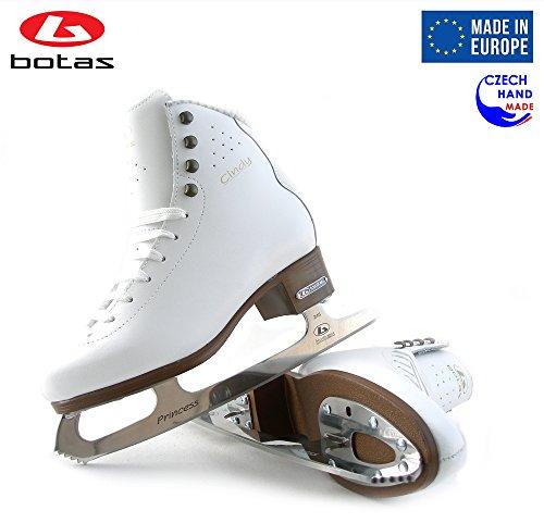 Botas – Model Cindy Made in Europe Czech Republic Ice Skates Women, Girls, Kids Leather Stretchy Cuff Spirit Blades