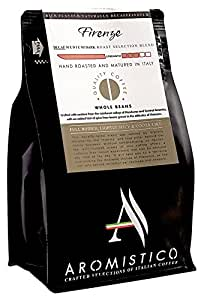 Aromistico | Italian Swiss Water Decaf Roast Whole Bean Coffee, Rich Aroma | FIRENZE BLEND, FULL BODIED, LIGHTLY SPICY & COCOA-like | For French Press , Espresso, Moka, PourOver, Filter, Aeropress