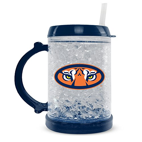 NCAA Auburn Tigers 8oz Junior Crystal Freezer Mug with Lid and Straw