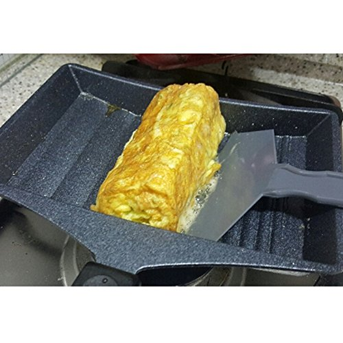 KITCHEN-ART Marble coating Egg Roll frypan with spatula for Folded Egg,Tamago Omelet Pan