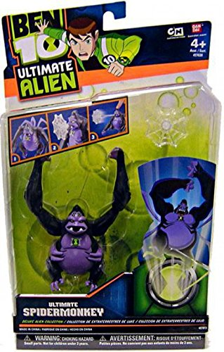 Bandai Ben 10 Ultimate Alien Deluxe Alien Collection Ultimate Spidermonkey Action Figure Bandai America 37633