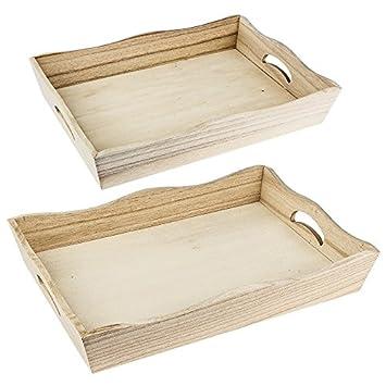 las tabletas de madera, 5,5 cm X31 cm x 21 cm y 6