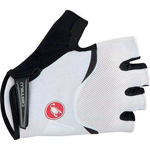 Castelli Arenberg Gel Glove - Men's White/Black, S (Suede Unisex Glove)