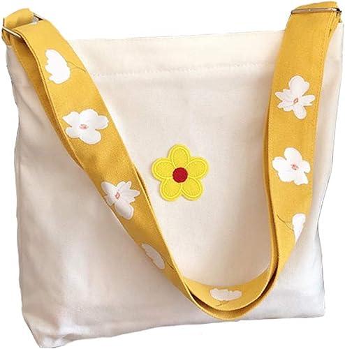 Cotton Bag College tote bag Shopping bag Handbag Shoulder bag Big Tote Bag Crochet Flowers Bag Gift Tote Bag Cotton tote bag