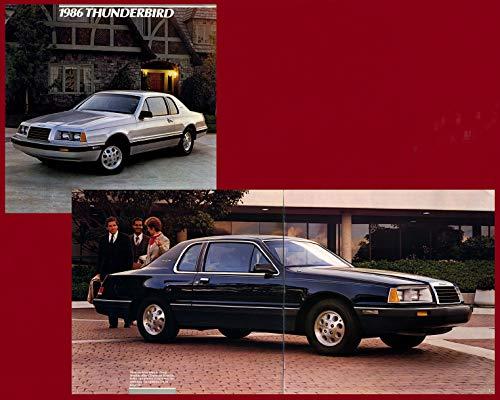 - 1986 FORD THUNDERBIRD, THUNDERBIRD élan & THUNDERBIRD TURBO COUPE PRESTIGE VINTAGE COLOR SALES BROCHURE - 8/85 - USA - GORGEOUS ORIGINAL !!
