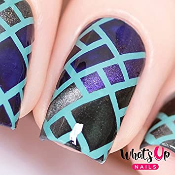 Amazon Com Whats Up Nails Stained Glass Vinyl Stencils