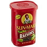 Sun Maid Natural California Raisins 20-Ounce (567g) (Pack of 3)