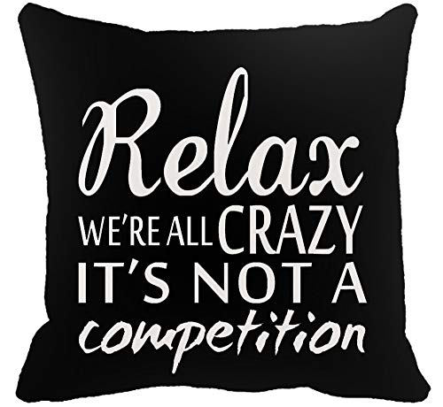 YFYMG Two Sided Printing Funny Motivational Inspirational Quotes Relax We