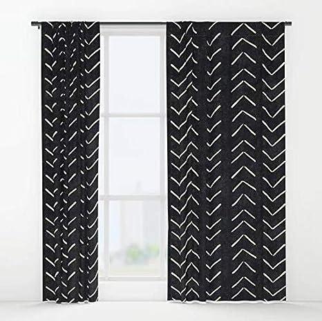 Amazon.com: XicoLtd Mudcloth Big Arrows in Black White ...