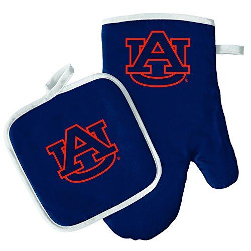 Oven Mitt and Pot Holder Set - Barbeque BBQ Kitchen Backyard Outdoors - NCAA - Auburn ()