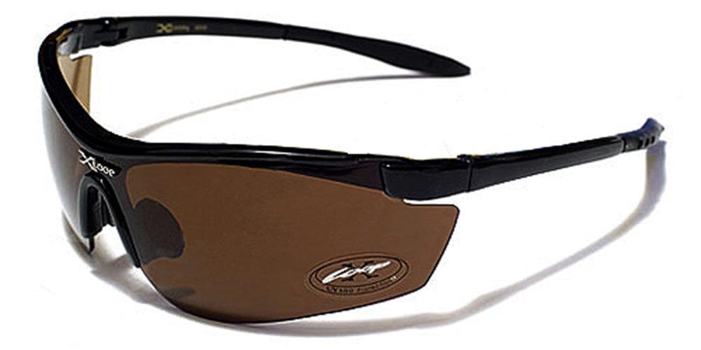 X-Loop Sonnenbrillen - Sport - Radfahren - Skifahren - Laufen - Driving - Motorradfahrer / Mod. 3550 Braun / One Size Adult / 100% UV400 Schutz