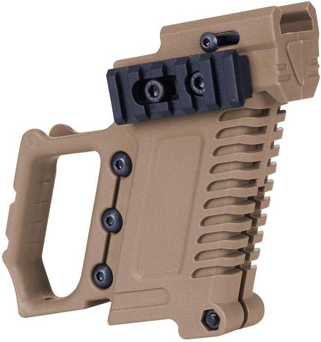 XBF-Armas de Aire comprimido, Airsoft Pistolas de Aire Glock Cañón de Agua está Equipado con CS G17 M92 Kit P22 Tactical Equipo Pistola Carabina (Color : Tan)