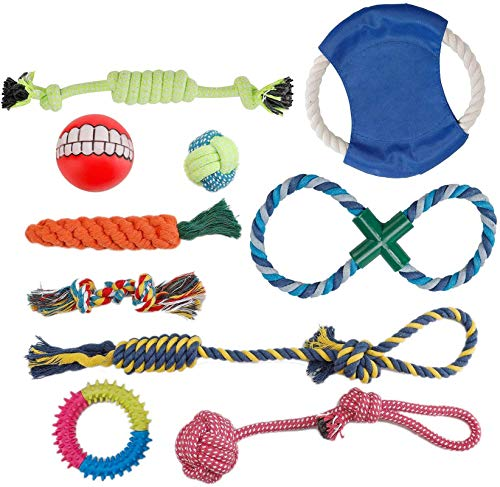 PETTOM Hundespielzeug, Interaktives Spielzeug Seil, Welpenspielzeug Welpen Kauen Spielzeug Hunde Zahnen Ausbildung…