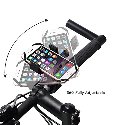 Bike /& Motorcycle Phone Mount Black Universal Mountain /& Road Bicycle 360 Degree Handlebar Cradle Holder for iPhone 8 5, 6s 6Plus, 7 7Plus,x Samsung Galaxy or Any Smartphone /& GPS.