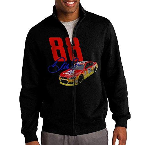 Men Nascar Dale Earnhardt Jr 88 Zip-up Jacket Hooded Swea...