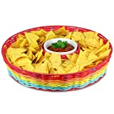 Plastic 13 1/2in Del Sol Chip and Dip Basket