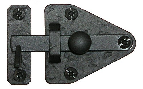 Acorn Manufacturing RL1BP 2.8125 Inch Arrowhead Cabinet Latch, Black Iron Finish by Acorn Manufacturing