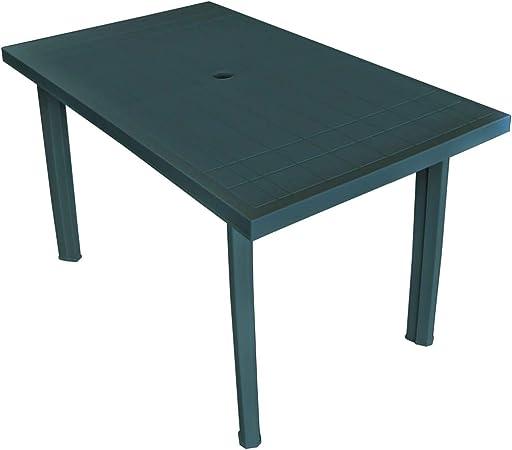 Tavolo Plastica Da Esterno.Vidaxl Tavolo Da Giardino 126x76x72 Cm Plastica Verde Tavolino