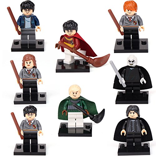 [Harry Potter Hermione Malfoy Ron Snap 8 Minifigures Building bricks toys, Fits LEGO] (Male Costumes Rocky Horror)