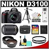 Nikon D3100 Digital SLR Camera & 18-55mm G VR DX AF-S Zoom Lens with 55-2.