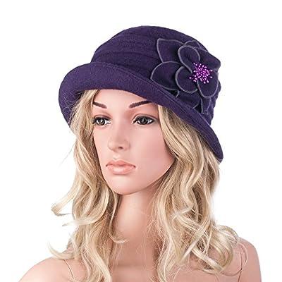 Lawliet-Womens-Gatsby-1920s-Winter-Wool-Cap-Beret-Beanie-Cloche-Bucket-Hat-A299