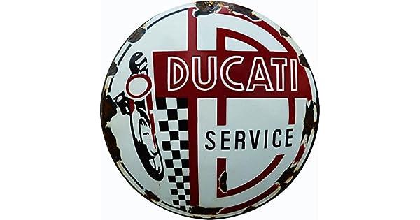 Amazon.com: Reproducción Ducati Servicio cartel 14 redondo ...