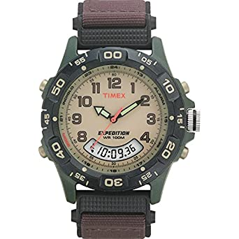 cf132bb01 Amazon.com: Timex Men's T45181 Expedition Resin Combo Brown Nylon ...