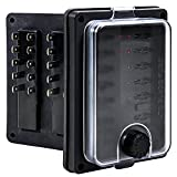 OLS Waterproof Blade Fuse Box - [IP56] [LED Indicator for Blown Fuse] [Protection Cover] [250 Amp] - Fuse Block for Automotive/Marine Boats