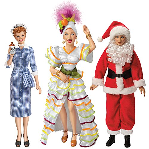 Lucy And Desi Costume (I Love Lucy Vinyl Doll Set/3 Lucille Ball Figures Classic 14