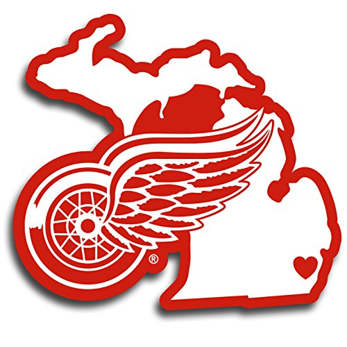 (Siskiyou NHL Detroit Wings Home State Decal, 5