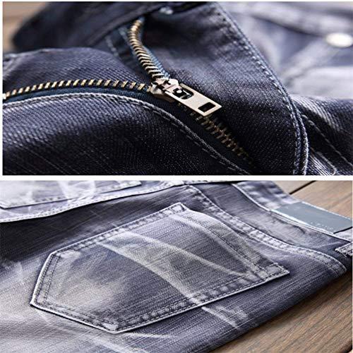 Pantaloni Colori R Comodo Dritto Casual W29 Classic Strappato Denim Coscia Marea W42 Battercake Distrutto hellgrau Stonewash Buche Biker Uomo 8 Slim Cher Fit Jeans 10 qv7OwBOf