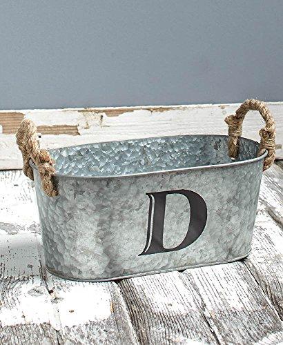 Galvanized Monogram Bucket D