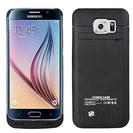Dizaul BACKAKKU-S6E-B - Batería externa recargable de 4200 mAh con funda para Samsung Galaxy S6 Edge, negro