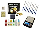 Diamond and Gold Silver Platinum Test Kit- Jewelry Testing Supplies with Box of Acids, Electronic Scale and Much More