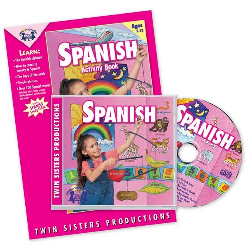 Spanish Music CD/Book Set (Listen and Learn a Language Series, 10) (English and Spanish Edition) by Twin Sisters Productions