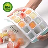 BINO Ice Cube Trays, Ice Tray Easy-Release Silicone and Flexible 21 Ice Trays with Spill-Resistant Removable Lid, LFGB Certified and BPA Free, Stackable Durable and Dishwasher Safe