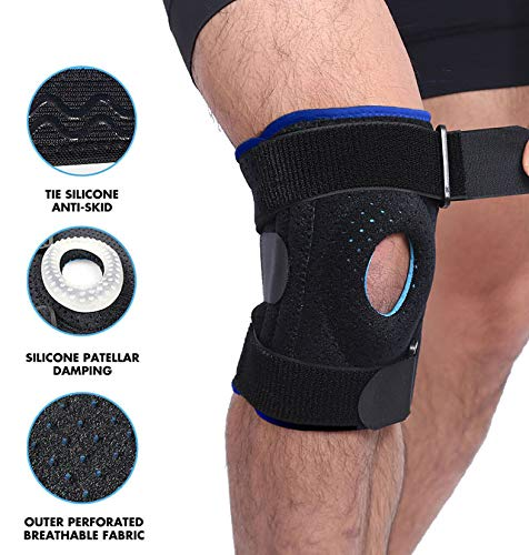 Knee Brace for Plus Size - Wrap around to Fit Large Legs, Extra Supportive to Your Knee, Relieve Knee Pain from after Surgery, Bone to Bone, Arthritis, Meniscus Tear, 4XL, 5XL, 6XL - Motion Infiniti