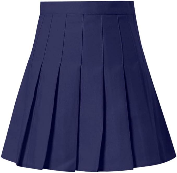 HOT1950s Mini Falda Plisada de Cintura Alta para Mujer, Cintura ...