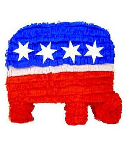 Elephant Pinata (Aztec Imports Patriotic Republican Elephant Piñata, Party Game and Decoration)