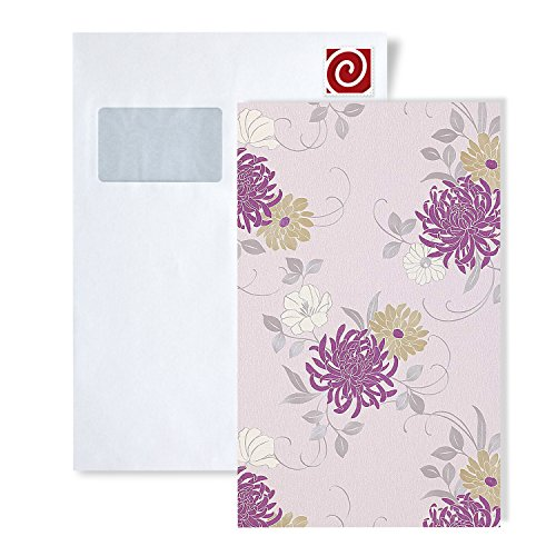 Wallpaper SAMPLE EDEM 824-series | deep embossed heavyweight floral flower wallpaper - wallcovering, 824-XX:S-824-25