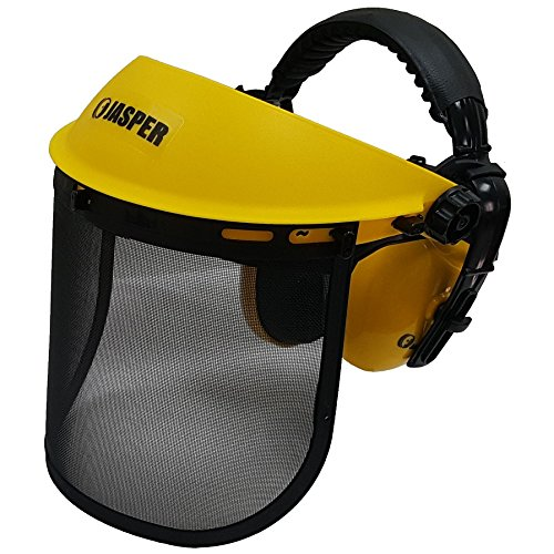 Jasper Browguard Face Shield Mesh Visor with Ear Muffs - ANSI Z87.1 CE EN1731 by Jasper (Image #6)
