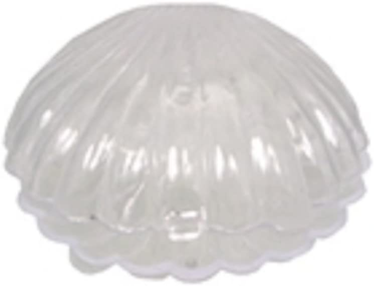 12 Medium Plastic Shell Candy Boxes Favors White 2.5 Inches Diameter