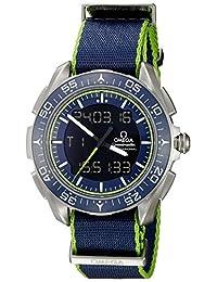 Omega Men's 'Speedmaster' Swiss Quartz Titanium and Canvas Automatic Watch, Blue (Model: 31892457903001)
